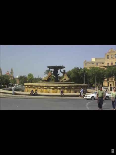 Malta Valletta Triton fountain