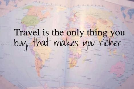 Traveling is..